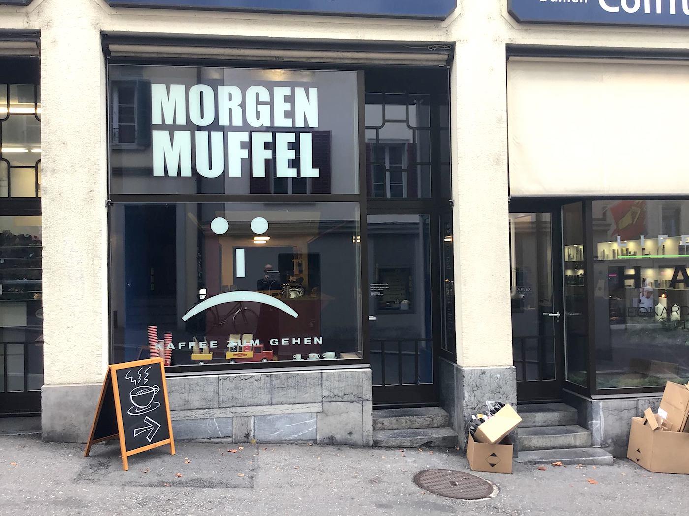 Das Morgenmuffel an der Museggstrasse bietet Kaffee und nichts anderes.