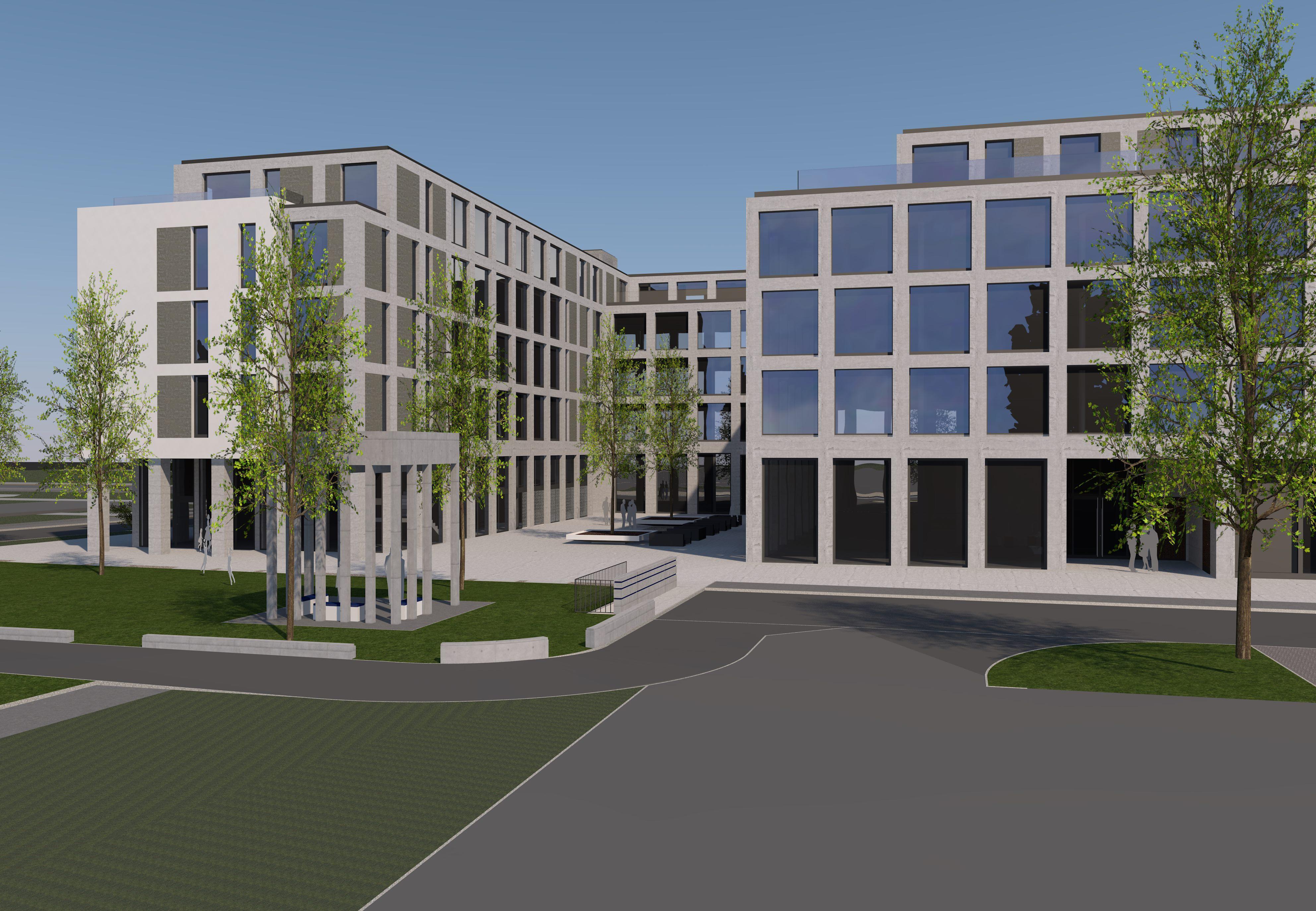 Im Innenhof des geplanten Neubaus am Littauer Bodenhof soll es grünen.