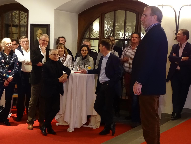 Vereinspräsident Roland Wismer bemerkte, dass gar kein Platz für viel mehr Gäste da wäre.