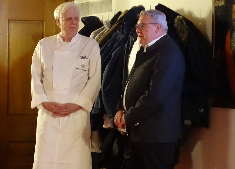 Stefan Meier (links) mit Sternekoch Franz Wiget vom Restaurant Adelboden in Steinen.