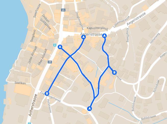 Die geplante Begegnungszone erstreckt sich von der St. Oswaldsgasse über die Kirchen- und Dorfstrasse bis hin zur Bohlstrasse.