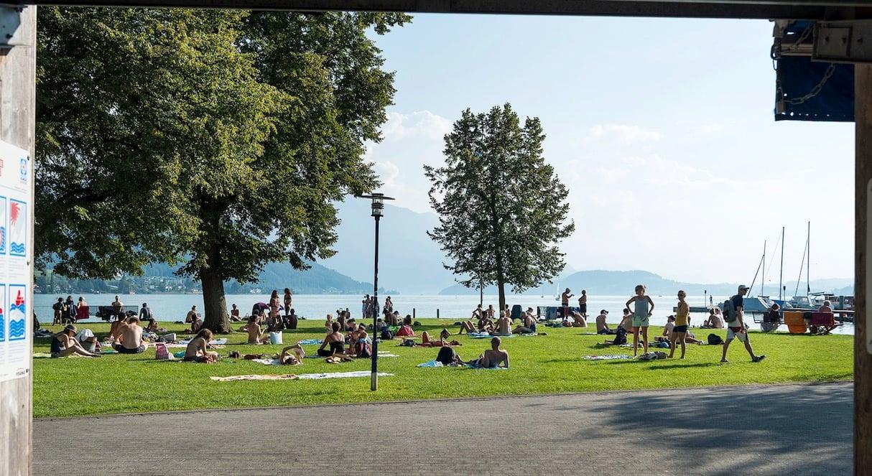 Die Siehbach-Badi im Sommerbetrieb.
