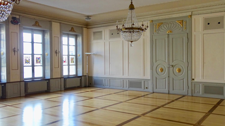 Der Saal aus dem 19. Jahrhundert im MLG-Gesellschaftshaus.