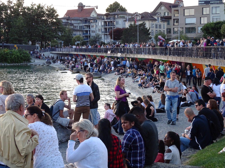 Die Katastrophenbucht fand grossen Anklang beim Zuger Seefest 2018.