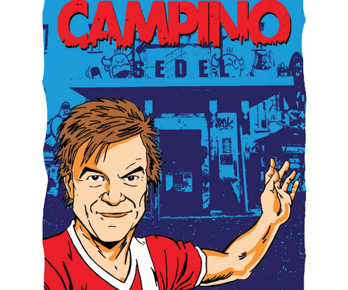 «Auf zur Party», scheint Campino auf Gössis Plakat in den Sedel zu laden.