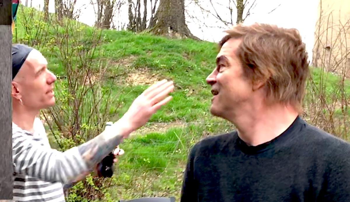 Der Punk und der Fan: Gössi führte den Hosen-Sänger Campino durch den Sedel.