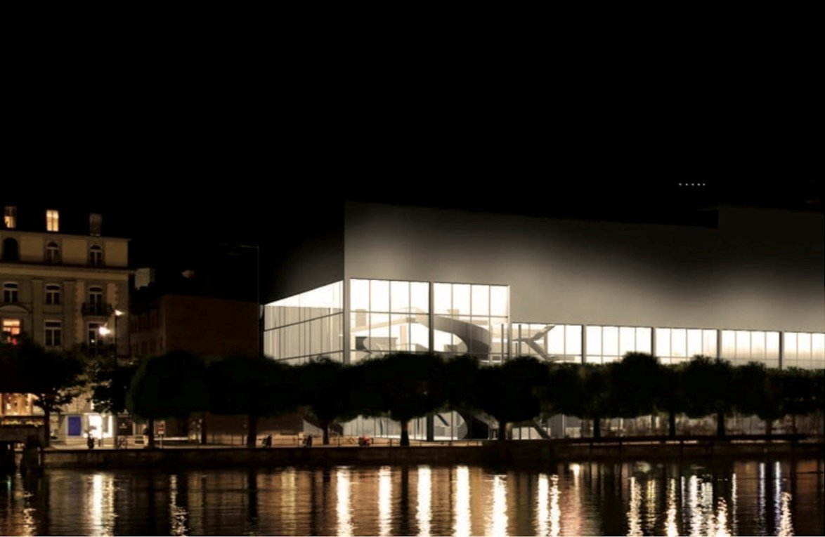 Diese Visualisierung zeigt, wie ein Neubau anstelle des alten Theaters aussehen könnte.