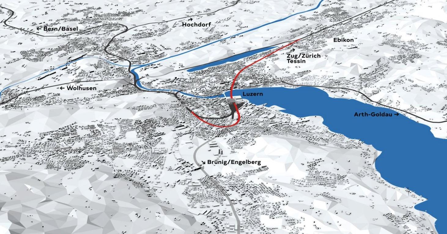 Mit dem Durchgangsbahnhof wird der Sackbahnhof Luzern Geschichte sein.