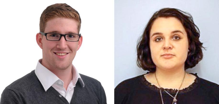 Elias Meier, Präsident der Jungen CVP, und Juso-Präsidentin Lorena Stocker.