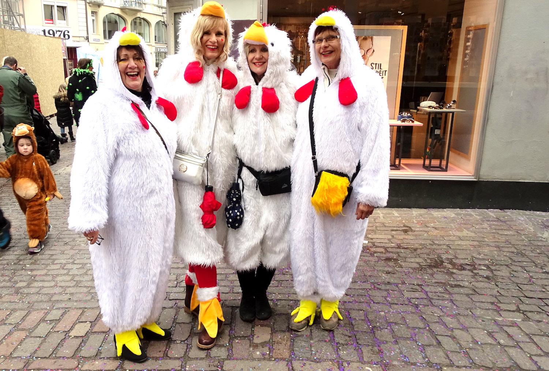 Die wohl wildesten Hühner an der Luzerner Fasnacht.