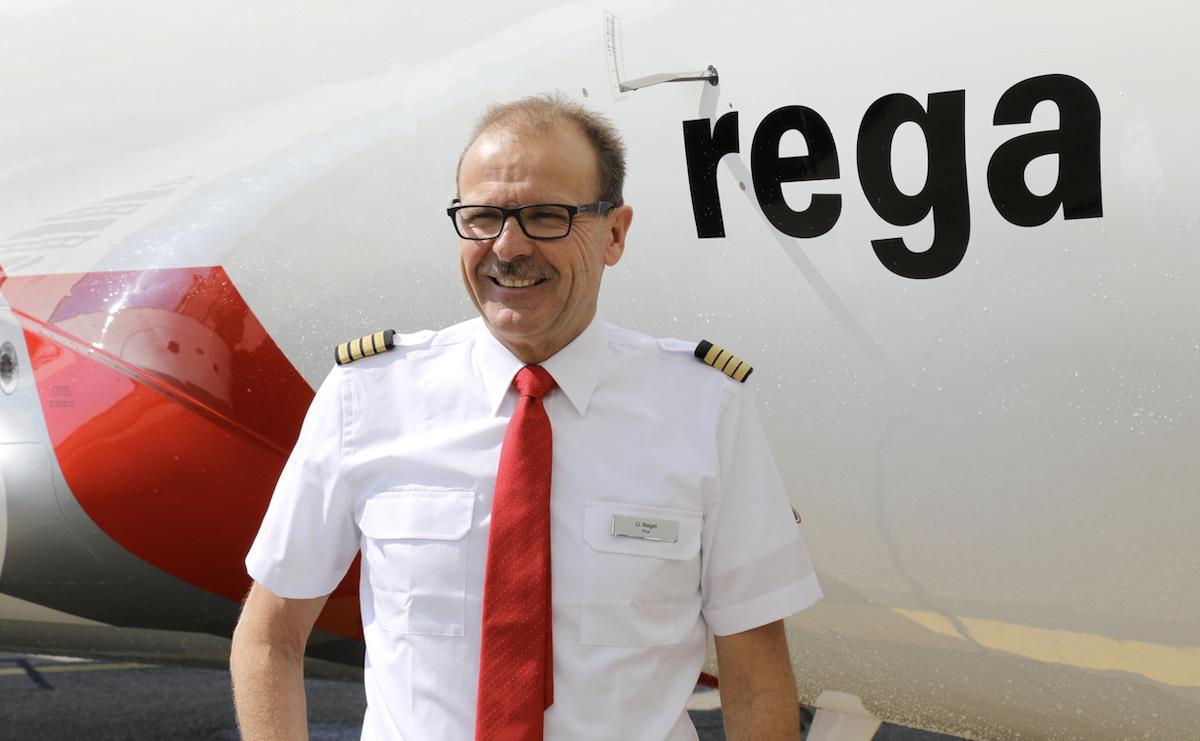 Mitglied der «Patrouille Suisse»: Urs Nagel flog während Jahren Hilfseinsätze für die Rega.