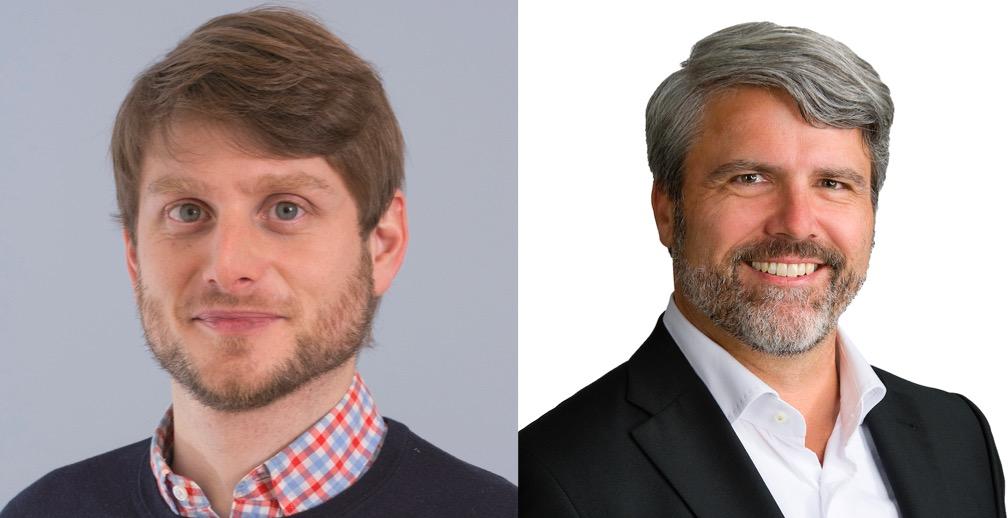 Urban Sager, SP-Kantonsrat und Präsident des VPOD Luzern (links) und Damian Hunkeler, FDP-Kantonsrat (rechts).