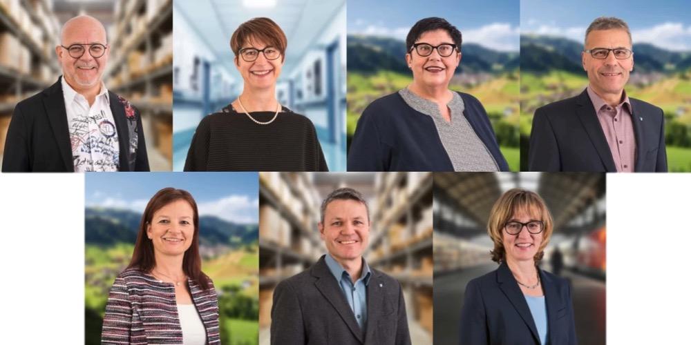 Aktuell besetzt die CVP acht Sitze – sieben Bisherige treten wieder an. Oben von links: Carlo Piani, Gerda Jung, Priska Galliker und Hanspeter Bucheli. Unten: Priska Wismer, Roger Zurbriggen und Yvonne Hunkeler.