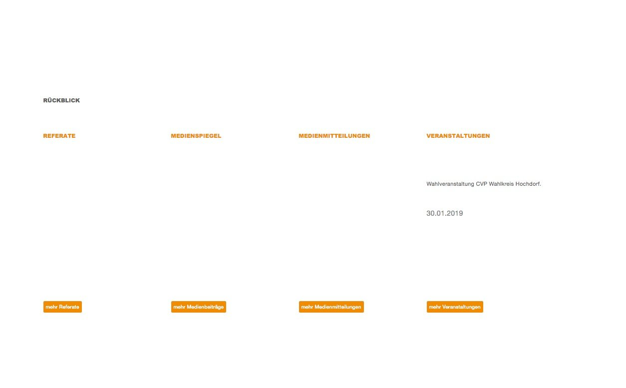 Ausbaufähig: Der Internet-Auftritt von Reto Wyss.