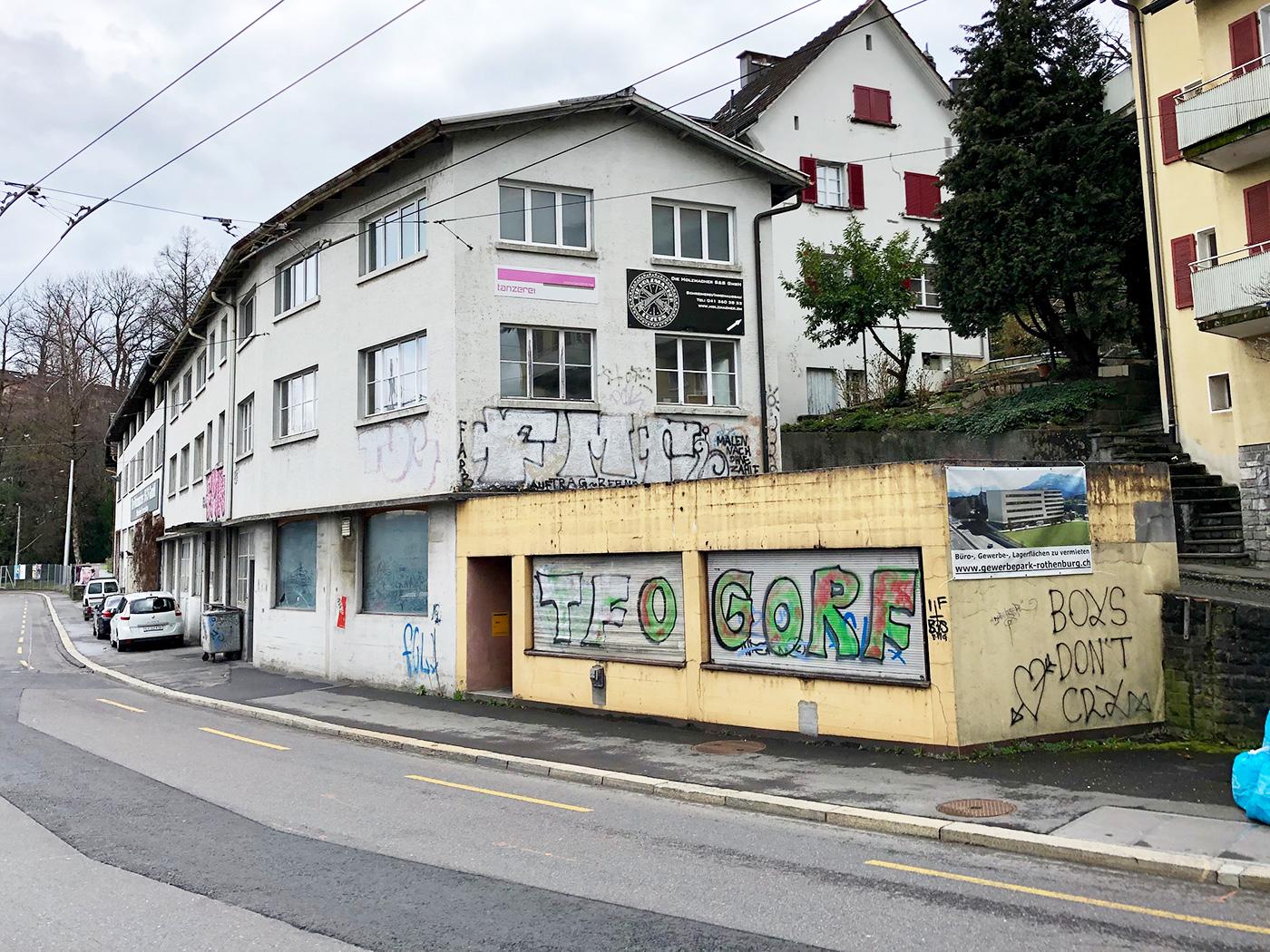 Das Gebäude am Geissensteinring beherbergt Kleingewerbe und Kultur.