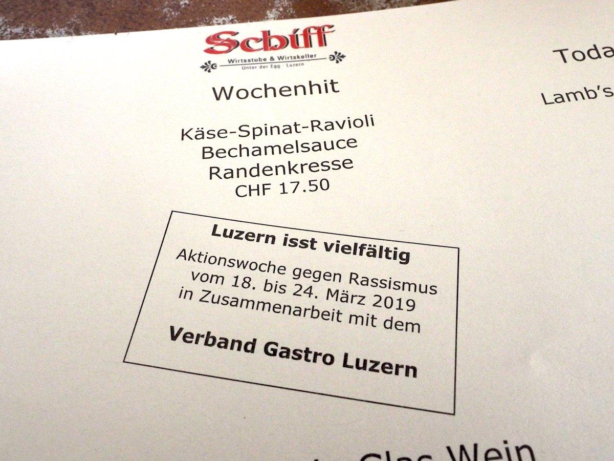 Bis am 24. März wird in Luzern anlässlich der internationalen Aktionswoche gegen Rassismus die Vielfalt kulinarisch zelebriert.