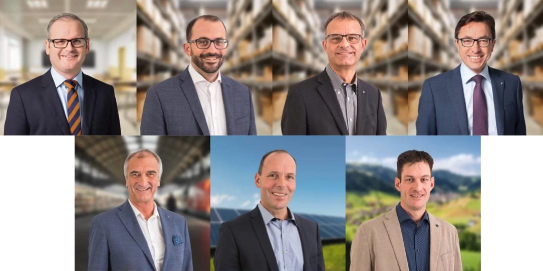 Die CVP stellt die grösste Delegation. Oben: Adrian Bühler, Adrian Nussbaum, Franz Bucher und Josef Wyss, unten: Jürg Meyer, Markus Odermatt und Thomas Oehen.