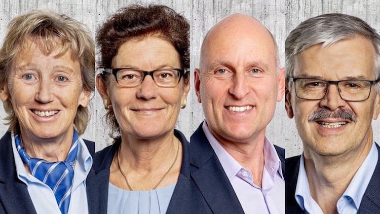 Steigen wieder ins Rennen: Die FDP-Kantonsräte Irene Keller, Heidi Scherer, Gaudenz Zemp und Ruedi Amrein.