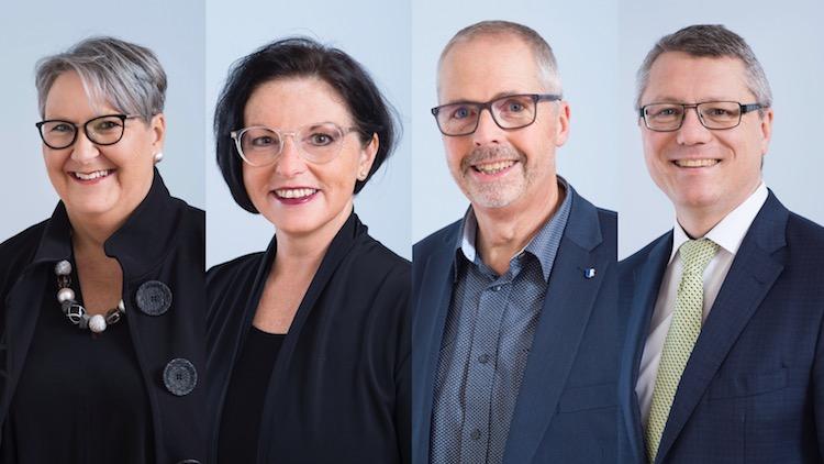 Sollen die SP-Sitze verteidigen: Marianne Wimmer-Lötscher, Helene Meyer-Jenni, Peter Fässler und Regierungsratskandidat Jörg Meyer.