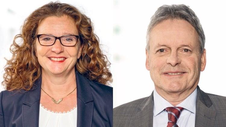 Treten für die GLP wieder an: Michèle Graber und Urs Brücker.