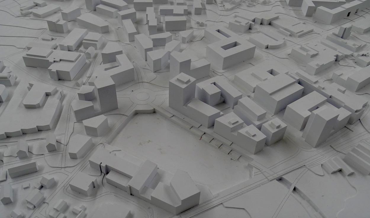 Das Modell zeigt, wie sie die Region in Luzern Süd entwickeln soll.