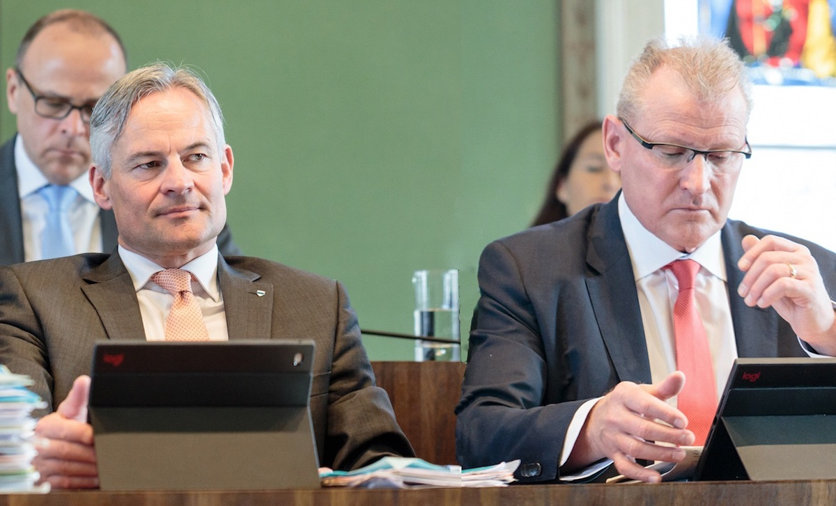 Nach Matthias Michel (links) hat nun auch Heinz Tännler seine Ambitionen kundgetan: Er will in den Ständerat.