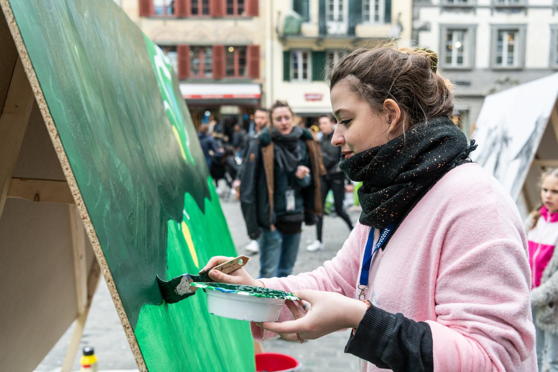 Hier entsteht Kunst: Das Comic-Festival Fumetto findet auch draussen statt.