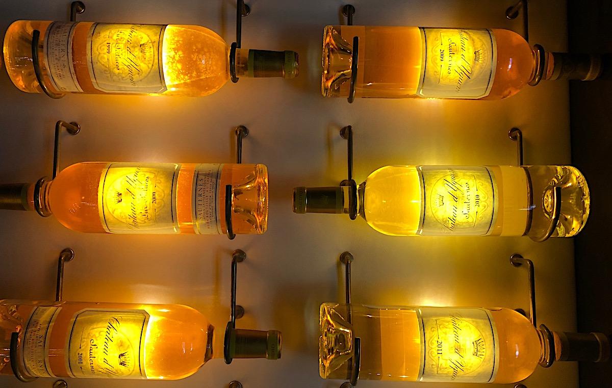 110 JahrgängeSüsswein aus dem Chateau d'Yquem: die grössten Sammlung ausserhalb des Schlosses.