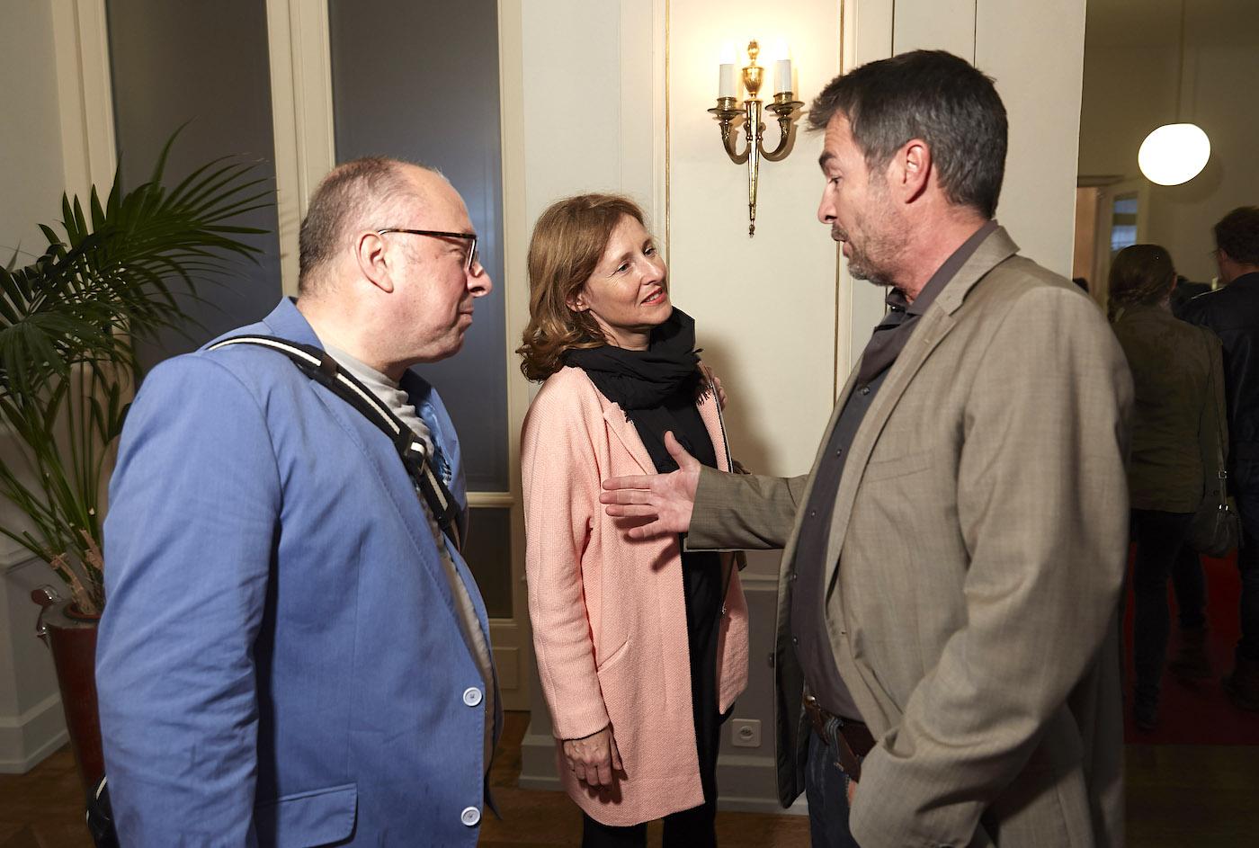 Bei der «Tatort»-Premiere: Niklaus Zeier (links) mit Produzentin Anita Wasser und Komissar Stefan Gubser.