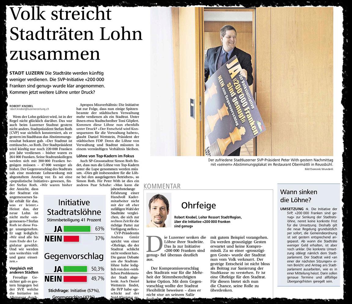 «Ohrfeige für den Stadtrat»: Solche Schlagzeilen behagen Niklaus Zeier nicht.
