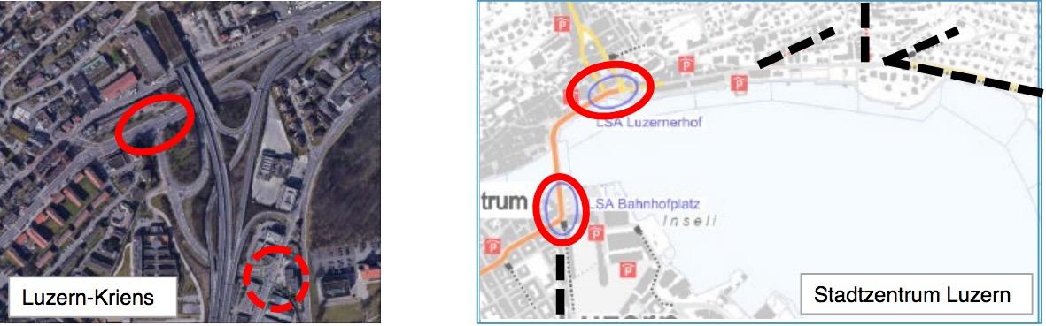 Sowohl in Kriens wie auch im Bereich der Seebrücke käme es zu einer Überlastung.