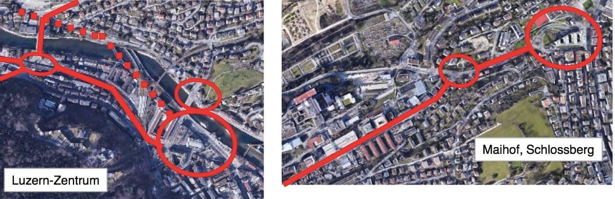 Der Kreuzstutz und die Spitalstrasse bis zum Schlossberg würden nicht mehr funktionieren.