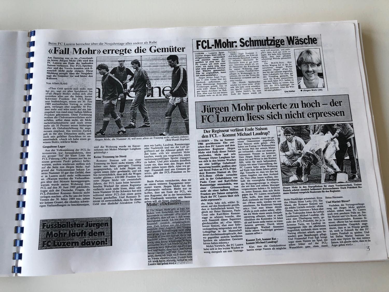 Der Schock für die FCL-Fans vor dem Titelgewinn: Der Verein und Regisseur Jürgen Mohr konnten sich nicht auf eine Vertragsverlängerung einigen.