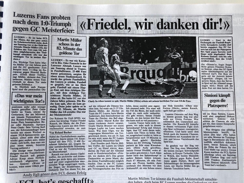 Spätestens mit dem 1:0-Heimsieg über die Grasshoppers war der Titelgewinn für Luzern und seine Fans nicht mehr bloss ein Traum.