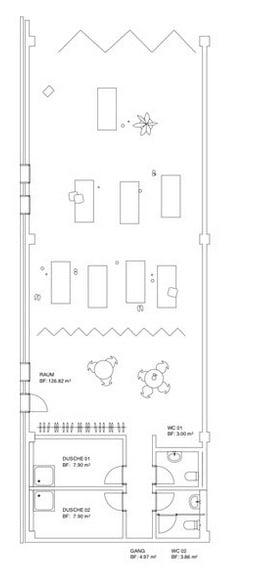 Der Grundriss des Raums «Spielplatz».