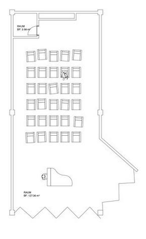 Der Grundriss des Raums «Dorfplatz».