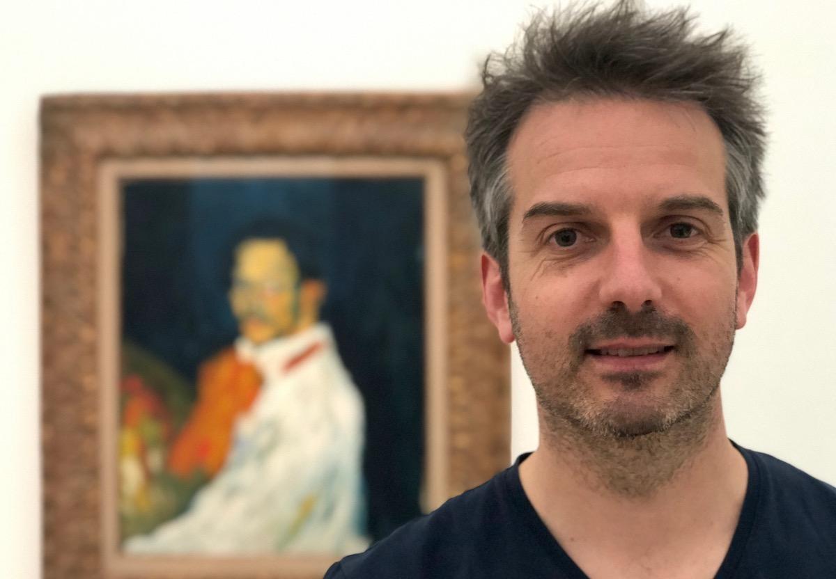 Durchschnittlich 50 Millionen wert:Matthias Fellmann vor einem Picasso-Bild.