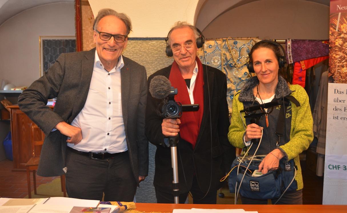 Pirmin Meier, Erich Langjahr und Silvia Haselbeck arbeiten derzeit gemeinsam.