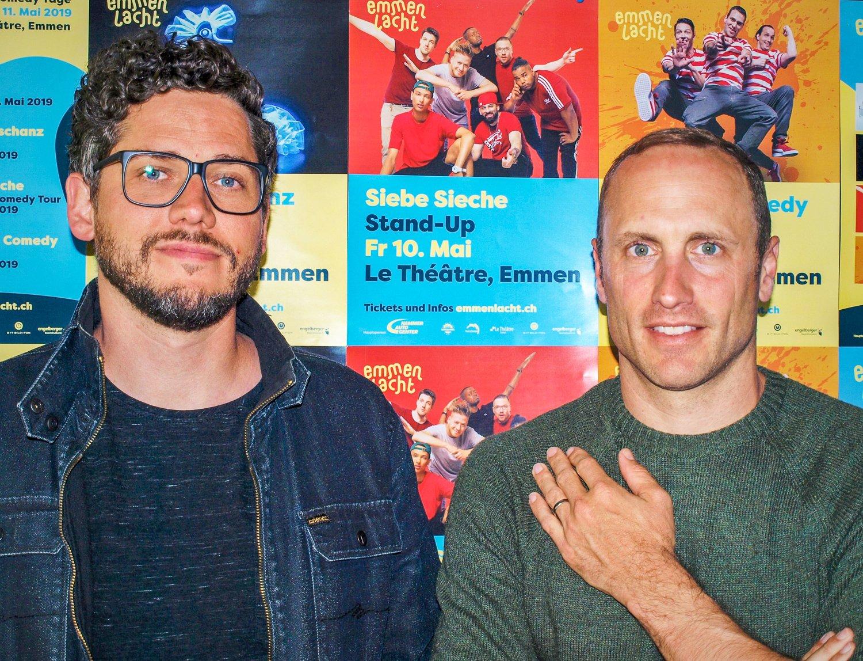 Albi Christen (links) und Pirmin Lötscher möchten «Emmen Lacht» zu einem fixen Bestandteil des Kulturkalenders etablieren.