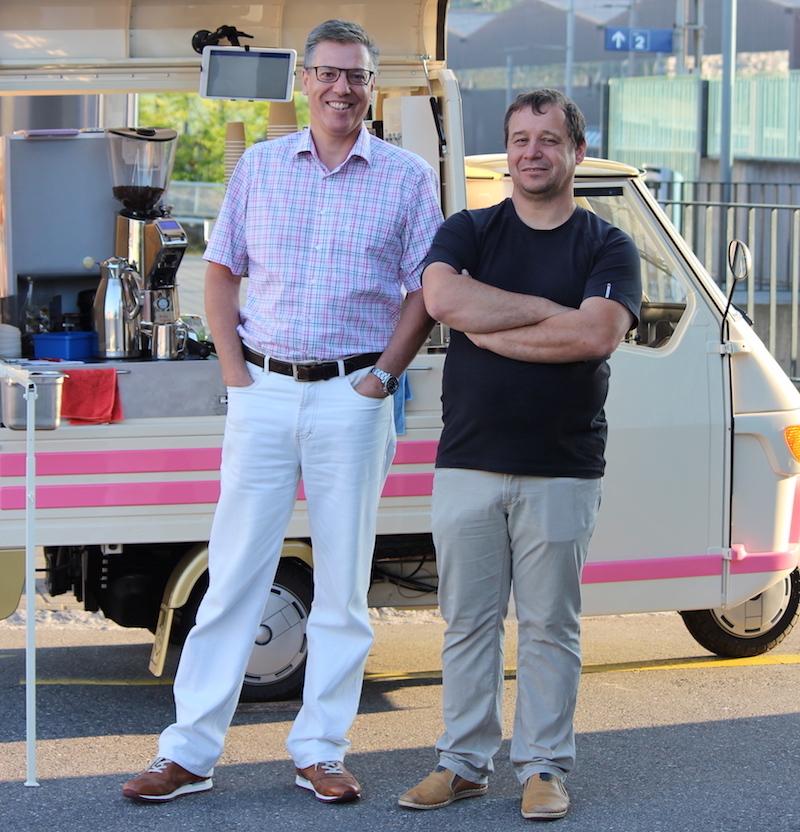 Benno Stäheli (links) und Paul Binkert (rechts) sind die Initianten von Caffè per Me.