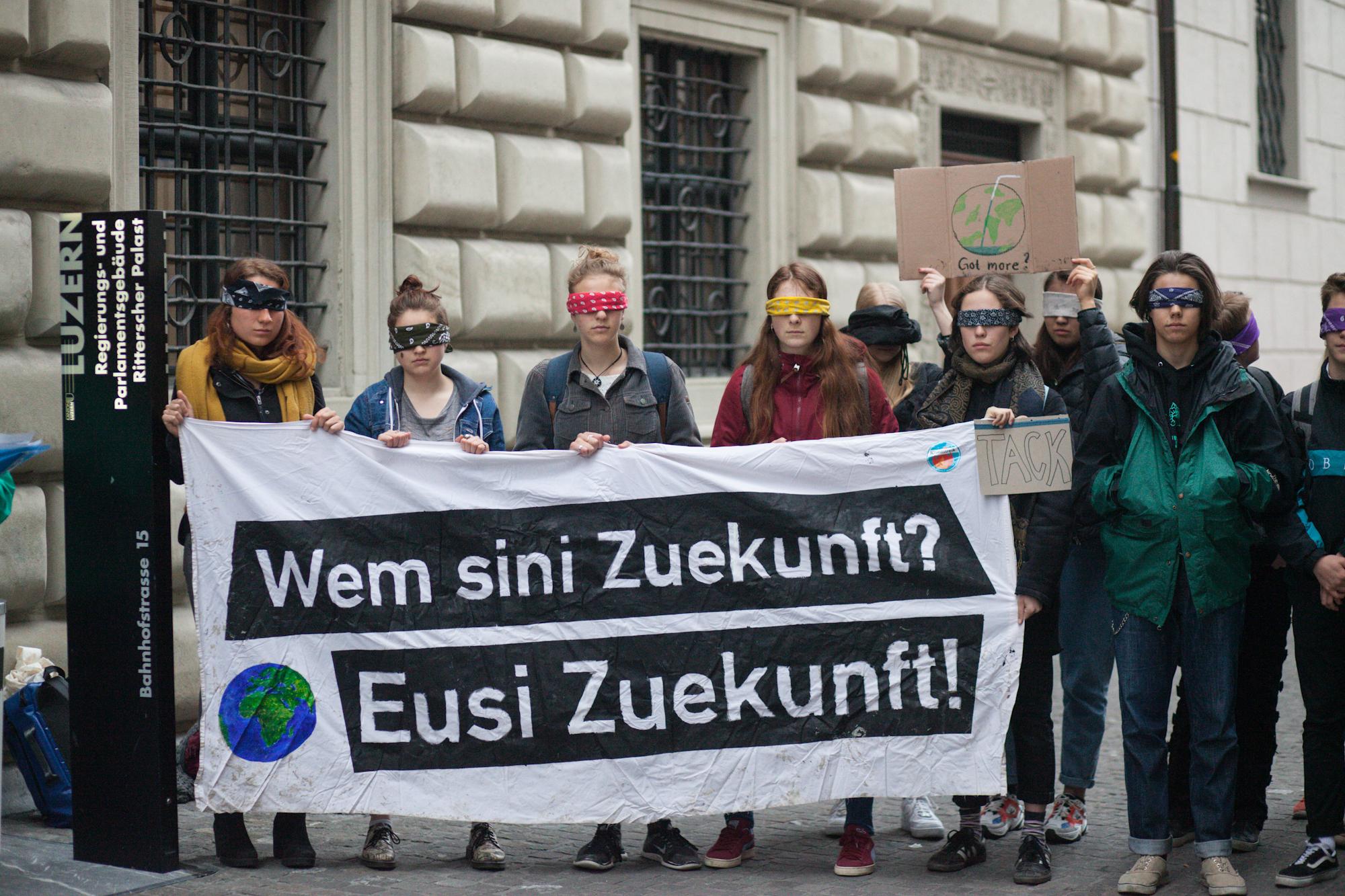 Der Kantonsrat konnte auch durch diese Aktion nicht vom Klimanotstand überzeugt werden.
