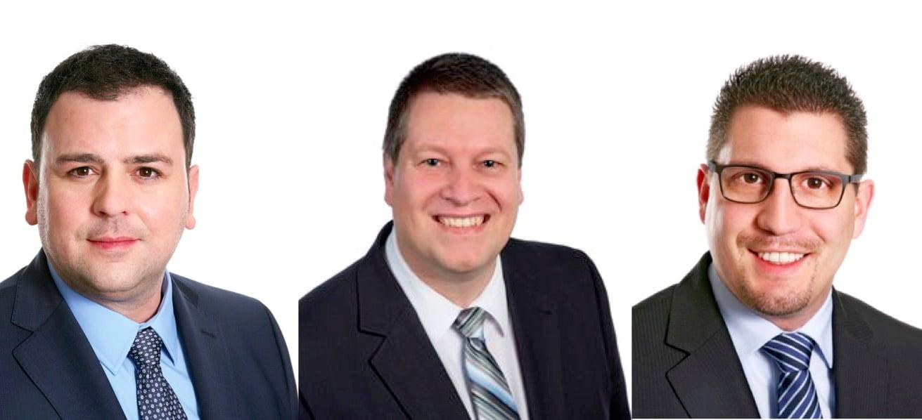 Geben ihren Rücktritt aus dem Grossen Stadtrat bekannt: Mario Willimann, Peter With und Urs Zimmermann (von links nach rechts).