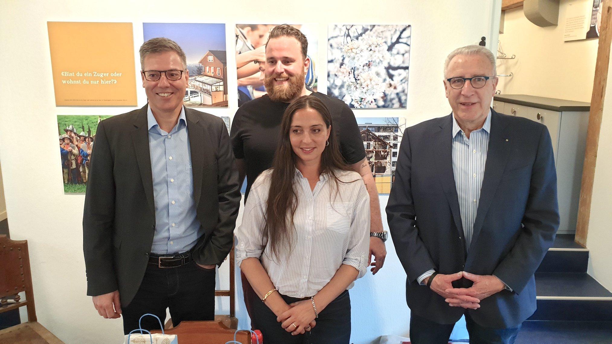 Benno Stäheli (links), Helena Todorovic, Ramon Nietlispach und Ignaz Staub.