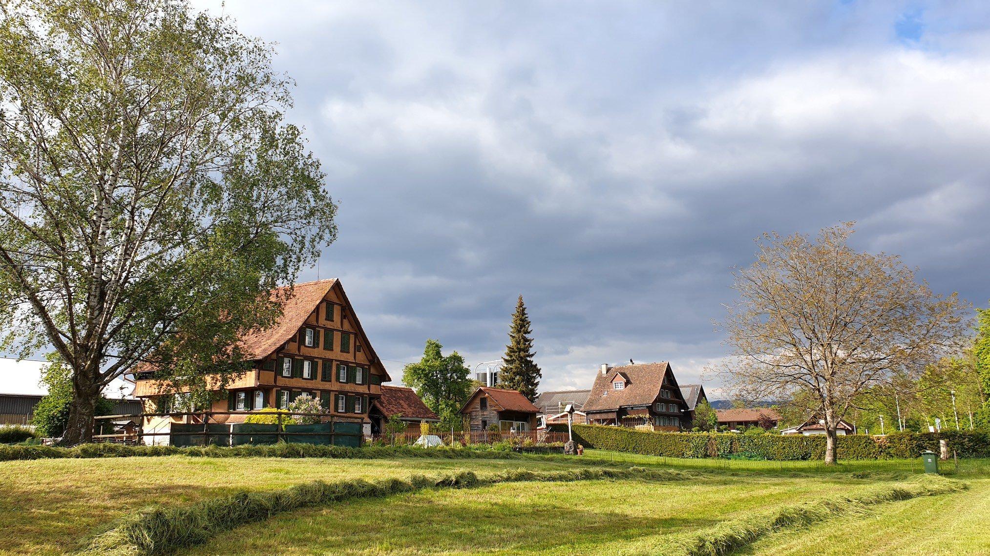 Camping-Gelände des «Eidgenössichen»: Hinter diesen Häusern an der Letzi.