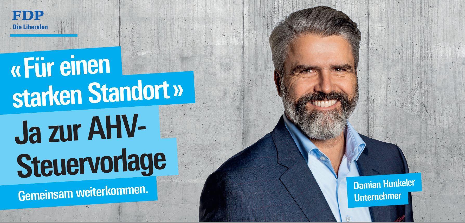 Damian Hunkeler, Luzerner FDP-Kantonsrat und Unternehmer, wirbt für die STAF-Vorlage.
