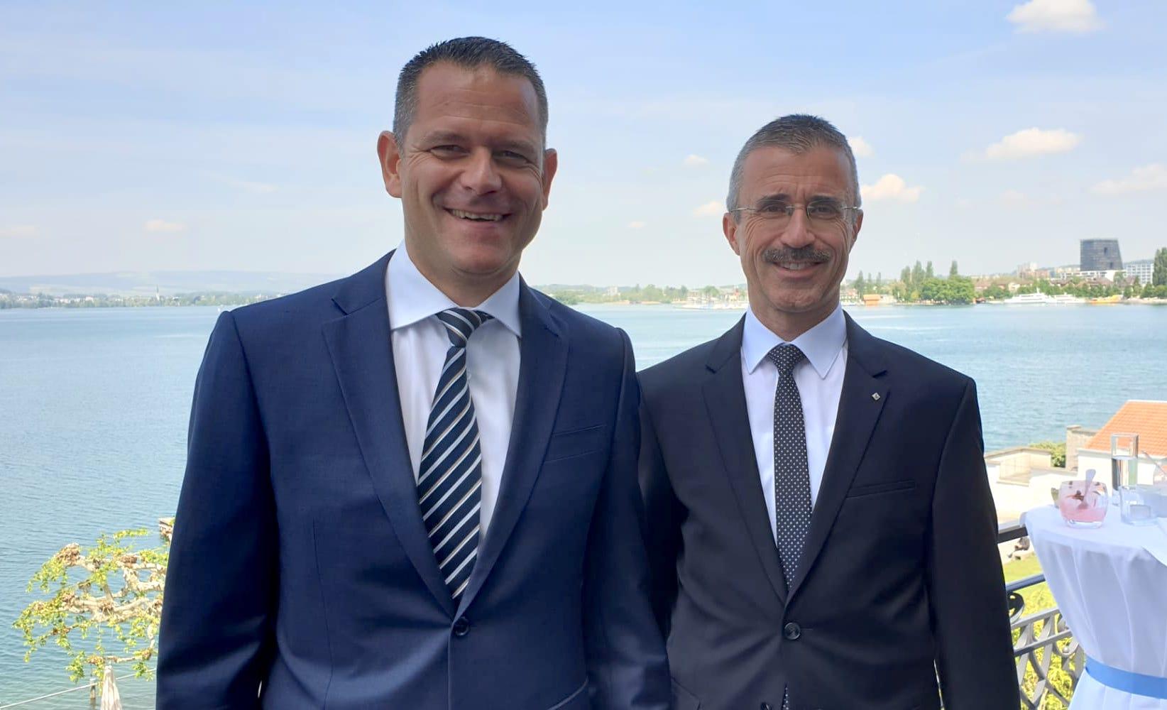 Patrick Schnorf, Leiter Research bei Wüest Partner (links) und Peter Bucher, Leiter Immobilien-Investoren der Zuger KB