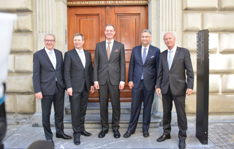 Der Luzerner Regierungsrat bis 2019 (v.l.): Robert Küng, Marcel Schwerzmann, Reto Wyss, Guido Graf und Paul Winiker.