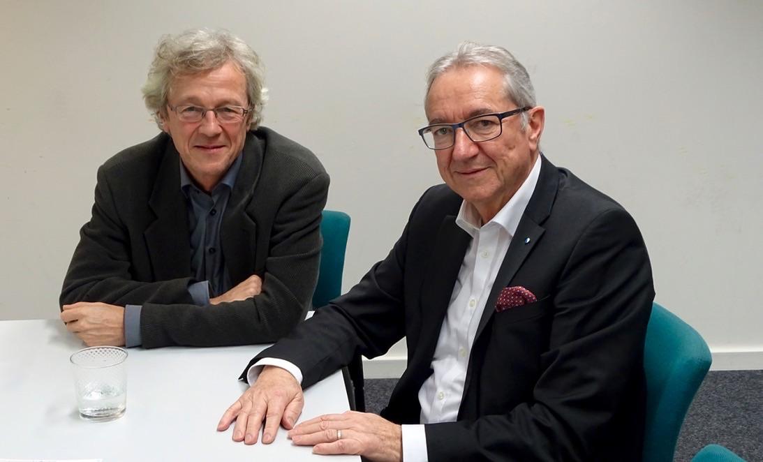 Stadtrat Adrian Borgula (links) und Regierungsrat Robert Küng sind sich nicht überall einig.