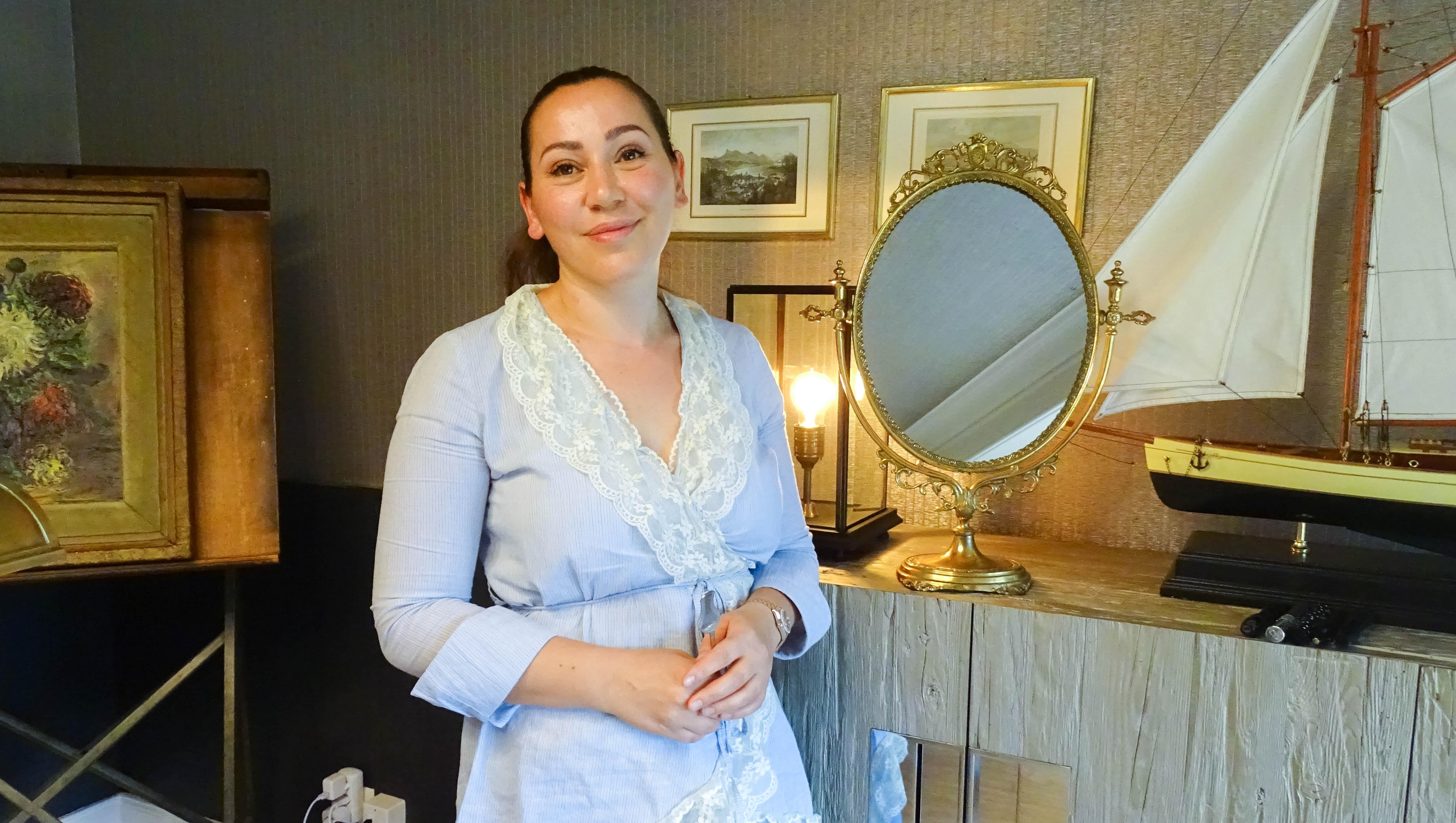 Violeta Salicunaj in ihrem Büro an der Haldenstrasse in Luzern.