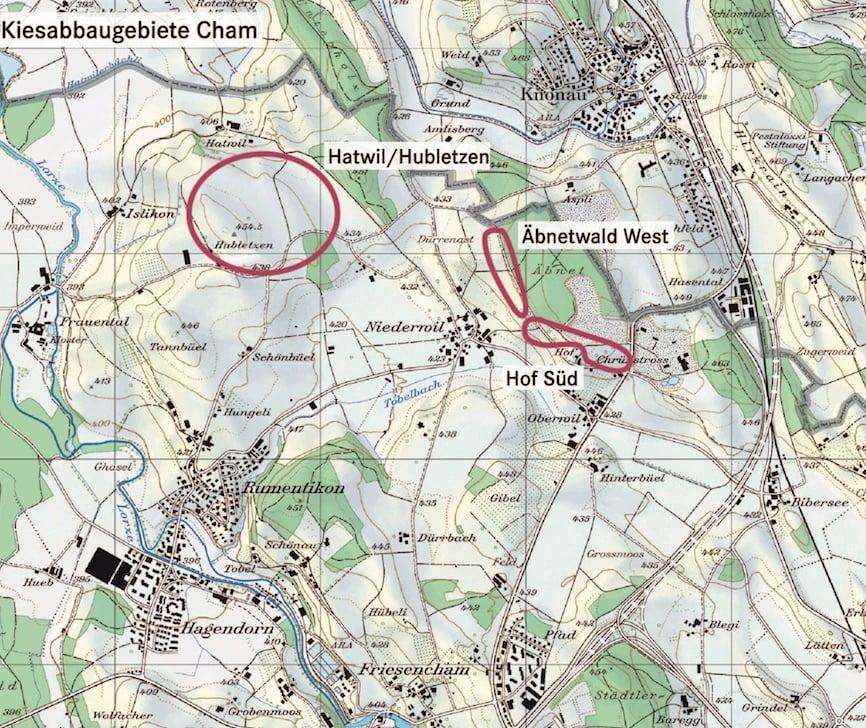 Hier, wo heute noch die Natur Überhand hat, will der Kanton Zug einst Kies abbauen.